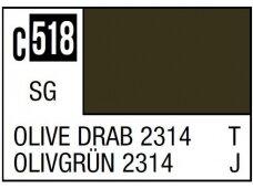 Mr.Hobby - Mr.Color serijos nitro dažai C-518 Olive Drab 2314, 10ml