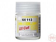 Mr.Hobby - Super Clear III UV Cut matinis lakas, 18 ml, GX-113