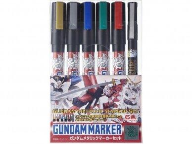 Mr.Hobby - Gundam Metallic Marker Set markerių komplektas, GMS-121