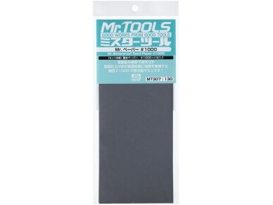 Mr.Hobby - Mr. Waterproof Sand Paper #1000 x 4 Sheets, MT-307