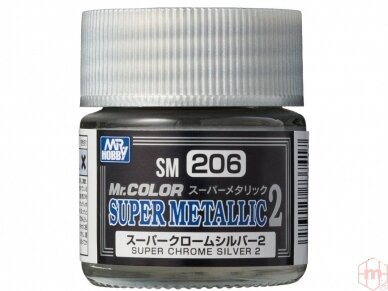 Mr.Hobby - SM-206 Super Chrome Silver II, 10ml