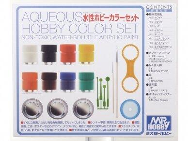 Mr.Hobby - Aqueous Hobby dažų komplektas (8 x 10ml), HS-30