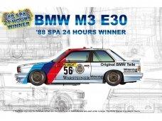 NuNu - BMW M3 E30 GroupA 1988 SPA 24 Hours Winner, Scale: 1/24. 24017