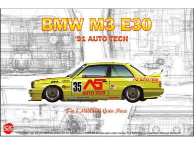 NuNu - BMW M3 E30 Group A 1991 Auto Tech, Mastelis: 1/24. 24014