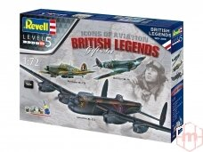 Revell - 100 Years RAF: British Legends dovanų komplektas, Mastelis: 1/72, 05696