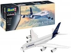 Revell - Airbus A380-800 Lufthansa New Livery, Scale: 1/144, 03872