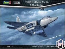 Revell - F-22A, Scale: 1/72, 03858