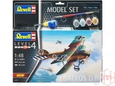 Revell - Model Set Albatros DIII, Scale: 1/48, 64973