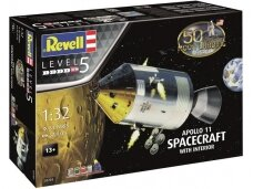 Revell - Apollo 11 Spacecraft w/ Interior Model Set, Scale: 1/32, 03703