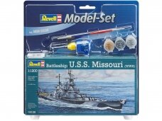 Revell - Battleship U.S.S. Missouri (WWII) Model Set, Scale: 1/1200, 65128