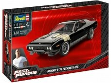 Revell - Fast & Furious Dominics 1971 Plymouth GTX, 1/24, 07692