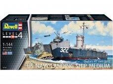 Revell - US Navy Landing Ship Medium (Bofors 40 mm gun), Scale: 1/144, 05169