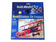 Revell - Fokker DR.1 Triplane dovanų komplektas, Mastelis: 1/72, 64116