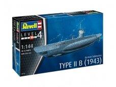 Revell - German Submarine Type IIB (1943), Mastelis: 1/144, 05155