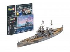 Revell - HMS King George V Model Set, Scale: 1/1200, 65161