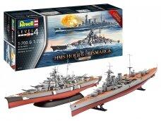 Revell - HMS Hood vs. Bismarck Limited Edition, 1/700&1/720, 05174