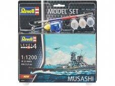 Revell - IJN Musashi dovanų komplektas, 1/1200, 66822