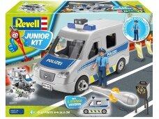 Revell - JUNIOR KIT police Car, 1/20, 00811
