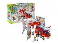 Revell - JUNIOR KIT Play Set Fire Station, 1/20, 00852