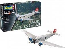 Revell - Junkers Ju52/3m Civil, Scale: 1/72, 04975