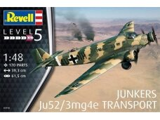 Revell - Junkers Ju52/3m Transport, Scale: 1/48, 03918