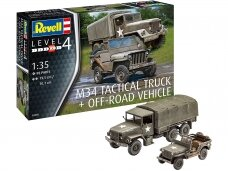 Revell - M34 Tactical Truck + Off-Road Vehicle, Mastelis: 1/35, 03260