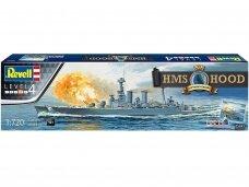 Revell - HMS Hood 100th Anniversary Edition Dovanų komplektas, Mastelis: 1/720, 05693