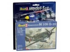 Revell - Messerschmitt Bf-109 G-10 Model Set, Scale: 1/72, 64160