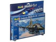 Revell - Mirage 2000D dovanų komplektas, Mastelis: 1/72, 64893