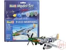 Revell - P-51D Mustang Gift set, Scale: 1/72, 64148