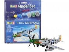Revell - P-51D Mustang dovanų komplektas, Mastelis: 1/72, 64148