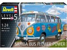 Revell - VW T1 Samba Bus Flower Power. Scale: 1/24, 07050