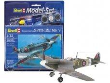 Revell - Spitfire Mk V Model Set, Scale: 1/72, 64164