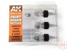 AK Interactive - Paint Doser Bottles 3x100ml, 9048