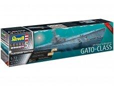 Revell - US Navy Gato Class Submarine, Mastelis: 1/72, 05168