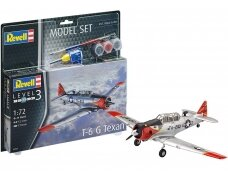 Revell - Model Set T-6 G Texan Model Set, Scale: 1/72, 63924