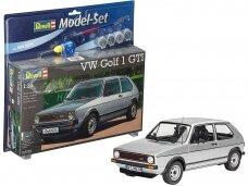 Revell - Volkswagen VW Golf 1 GTI dovanų komplektas, Mastelis: 1/24, 67072