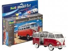 Revell - VW T1 Samba Bus Model Set, Scale: 1/24, 67399