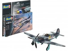 Revell - Yakovlev Yak-3 Model Set, Scale: 1/72, 63894