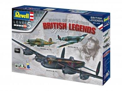 Revell - 100 Years RAF: British Legends dovanų komplektas, Mastelis: 1/72, 05696