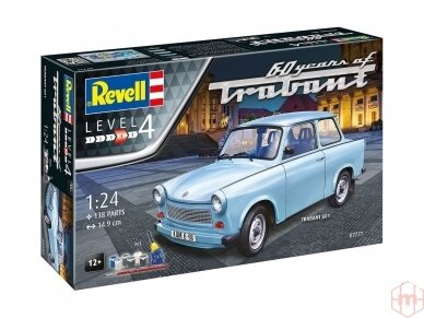 "Revell - Trabant 601S ""60 Jahre"" dovanų komplektas, Mastelis: 1/24, 07777 2"