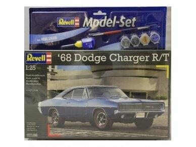 Revell - 1968 Dodge Charger dovanų komplektas, Mastelis: 1/24, 67188