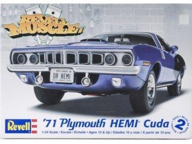 Revell - 1971 Plymouth Hemi Cuda 426, Mastelis: 1/24, 12943