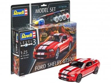 Revell - 2010 Ford Shelby GT 500 dovanų komplektas, Mastelis: 1/25, 67044