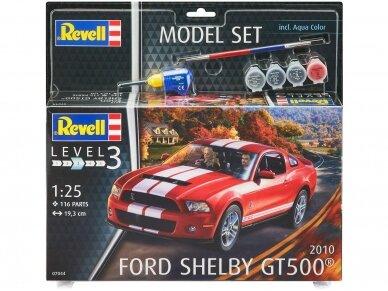 Revell - 2010 Ford Shelby GT 500 dovanų komplektas, Mastelis: 1/25, 67044 2