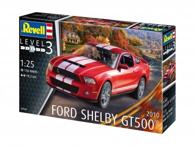 Revell - 2010 Ford Shelby GT 500, Mastelis: 1/25, 07044