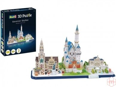 Revell - 3D Dėlionė Bavarian Skyline, 00143
