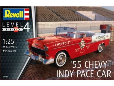 Revell - '55 Chevy Indy Pace Car, 1/25, 07686