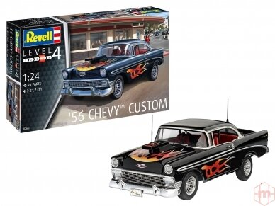 Revell - '56 Chevy Customs, Mastelis: 1/24, 07663 2