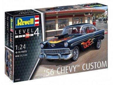 Revell - '56 Chevy Customs, Mastelis: 1/24, 07663